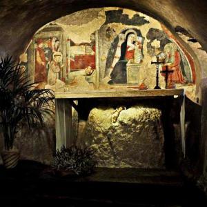 Die Wallfahrtskirche von Greccio